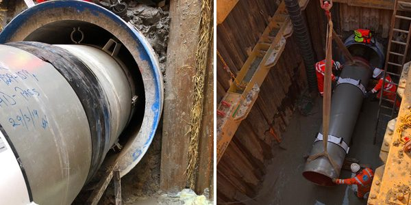 Auger bore, pipe in pipe